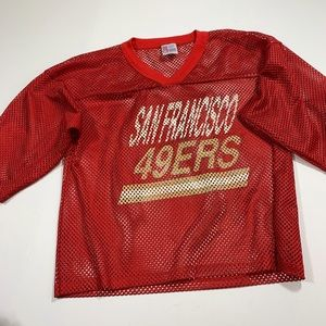 Vintage SF 49ers NFL Mesh Shirt Sz L Man/Woman USA